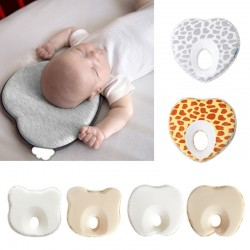 Infant anti roll pillow - sleep positioner with hole - flat head prevention