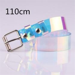 Transparent - laser rainbow - fashionable belt - 90cm - 100cm - 110cm - 120cm