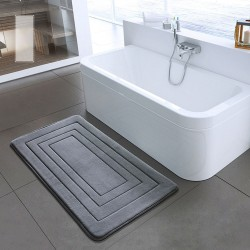 Bathroom mat - non-slip carpet - memory foam