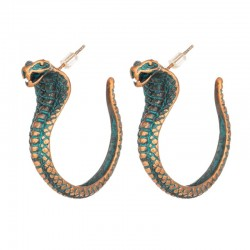 Vintage earrings with cobra