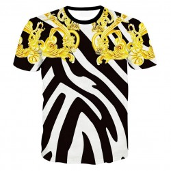 3D graphic print luxury t-shirt - premium cotton