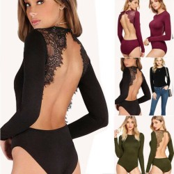 Backless Lace Bodysuit