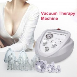 Buttcock / breast enlargement - vacuum machine - massager with 6 suction cups