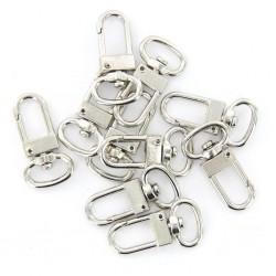 10 pieces - swivel carabiner - hook - key ring 18 * 33 mm