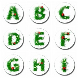 26 letter 30 mm fridge magnet - child letter magnet - cartoon kids gifts glass magnetic refrigerator stickers