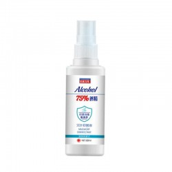 Rinse-free hand sanitizer - 75% alcohol spray - 60ml