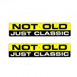 NOT OLD JUST CLASSIC - car sticker 15.2CM * 3.3CM
