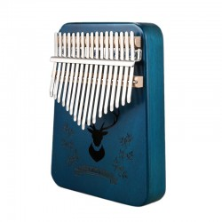 17 keys kalimba piano - wooden musical instrument with tuner hammer & learning book