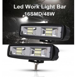 48W - car Led fog lights - spot-beam bar for 4x4 trucks - jeep - ATV - SUV - DRL spotlight