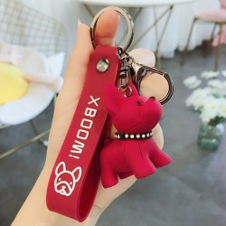French Bulldog Key Chain - Rubber