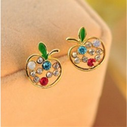Apple Crystal Earrings