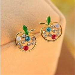 Apple Crystal Earrings