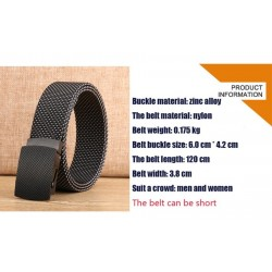 Luxury knitted belt with automatic buckle