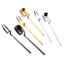 Hangable fruit & desserts fork - 304 stainless steel