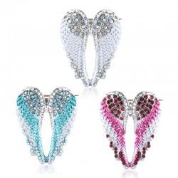 Crystal angel wings - brooch