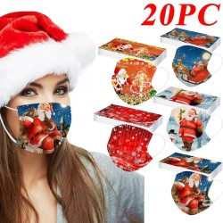 20 pieces - disposable antibacterial medical face mask - mouth mask - 3-layer - unisex - Christmas print