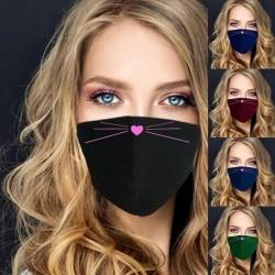Cute face mask - washable - 5 colours - 1pc