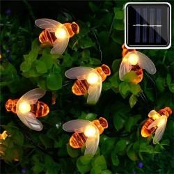 Solar powered - cute honey bee - led - light - 20leds - 50leds - outdoor