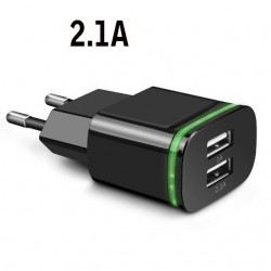 Universal USB charger - 2 port / 4 port - LED light - multi port