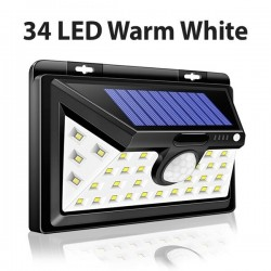 LED solar light - outdoor - motion sensor - wall - waterproof - 34 LEDS