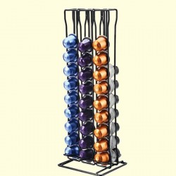 Coffee Capsule Holder - Tower Stand - 60 Nespresso Capsules - Storage