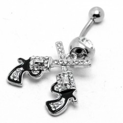 Cowgirl - Guns - Belly Button Ring