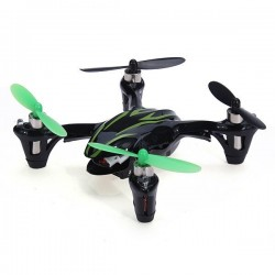 Hubsan X4 H107C Upgraded - 2.4G - 4CH - 2MP Camera - Black Green - Mode 2 (Left Hand Throttle)