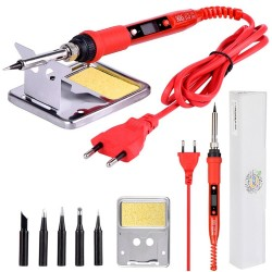 908S LCD electric soldering iron - adjustable temperature - 220V 80W