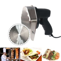 Electric kebab / shawarma slicer with blades