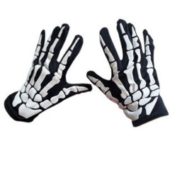 Halloween style gloves - skeleton hands