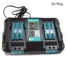 Double battery charger for Makita 14.4V - 18V - BL1830 - Bl1430 - DC18RC - EU plug