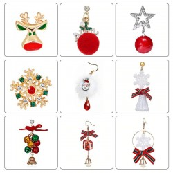 Colorful Christmas earrings