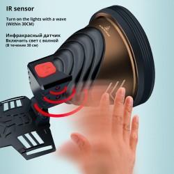 Powerful led headlight - ir sensor - 4-core super bright - waterproof