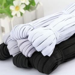 3/6/8/10MM - White/black - Flat Elastic Bands - DIY sewing