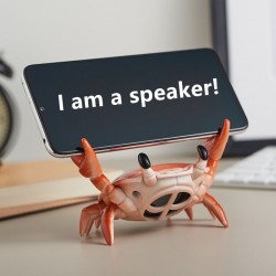 2 in 1 - crab shape speaker / phone holder - Bluetooth - wireless - with microphone support - TD card