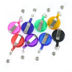 Retractable keychain - for ID card / badge holder