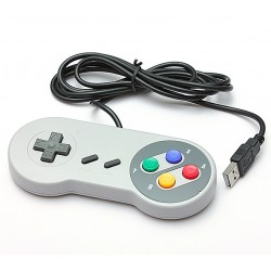 USB controller joystick for retro games - for Mac Linux Windows - SNES