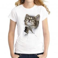 Harajuku T-Shirt - 3D - Cat