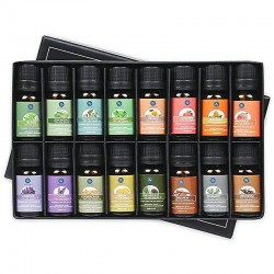 Essential oils for diffuser / humidifier / massage / aromatherapy - 10ml - 16 pieces
