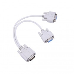 VGA SVGA - 1 to 2 monitors - male to 2 dual female Y - 15 pin - adapter - splitter cable