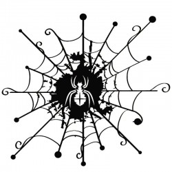 Spider web - vinyl - decal - black -silver - car sticker
