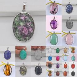 Stone - gem - oval pendant