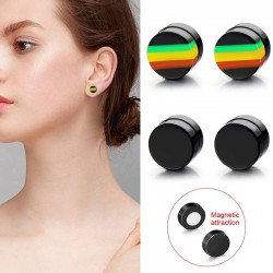 Magnetic earrings - round