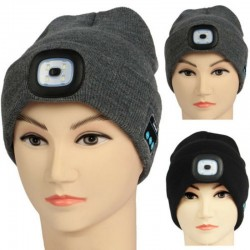 Bluetooth 5.0 - wireless smart hat - headphones - headset with 4 Leds