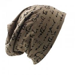 Warm beanie - unisex hat - letters & stars