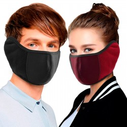 2 in 1 - thick face / mouth mask / earmuffs - unisex
