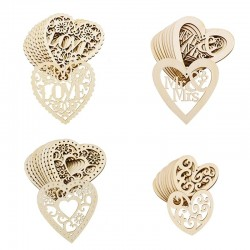 Wooden hearts - hanging ornaments