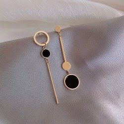 Hollow long circle earrings for women