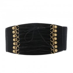 Elastic waist belt - faux leather