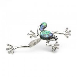 Vintage frog shell brooch - brooch pins